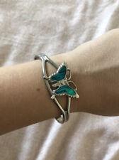 Cuff Bracelet Silver Tone Butterfly