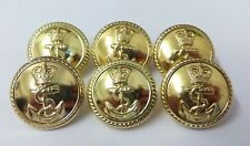 Genuine British Royal Navy Issue Officers Uniform Dress Buttons 36L OFC  ASBT63