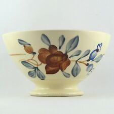 """BOL ANCIEN Faïence """"FLEURS"""" par DIGOIN SARREGUEMINES, vintage flowers bowl..."""