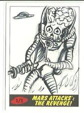 2017 Topps Mars Attacks The Revenge ! Martian Sketch Card by Neil Camera (B)