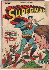 """SUPERMAN #44 - Grade 2.0 - Golden Age! """"Playthings of Peril""""!"""
