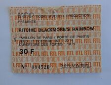 RAINBOW    TICKET   concert  PARIS 1977