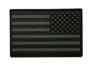 Reversed USA American Flag Patch (PVC Rubber 3.0 x 2.0 MTB19A)