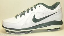 New Nike Air MVP Pro MCS Baseball Cleats Size 13.5 White Green Molded Plastic