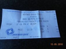 TICKET STUB MAMAS AND PAPAS 1998 BRENTWOOD CENTRE