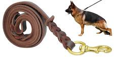 Fairwin Braided Leather Dog Leash 6 ft - K9 Walking Training Leads for German Sh