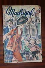 Ancienne revue - MADRIGAL - N°88 - 1950 - Mode - Romans photos Hélène Perdrière