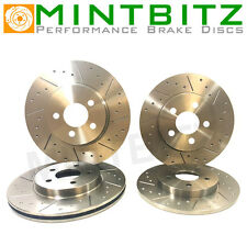 Citroen C2 GT VTR VTS FRONT And REAR Dimpled And Grooved BRAKE DISCS