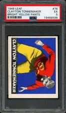 1948 LEAF #76A CLAYTON TONNEMAKER RC (BRIGHT YELLOW PANTS) PSA 5 EX Set Break