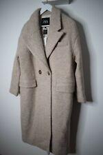 ZARA premium wool blend OVERSIZED grey coat size M Medium RRP £99.99 BNWT