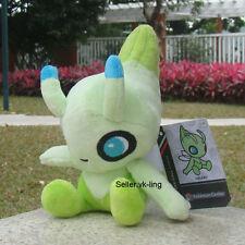 "Pokemon Go Celebi 6"" Plush Toy Pocket Monsters Stuffed Animal Soft Doll Nintendo"