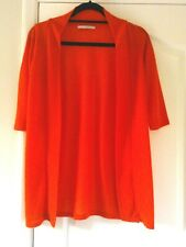 ** NEW ** LONG ORANGE OPEN FRONT CARDIGAN SIZE 10