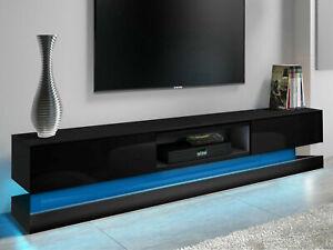 TV Unit Cabinet TV Stand Modern 180cm - Matt Body & High Gloss Doors LED Light