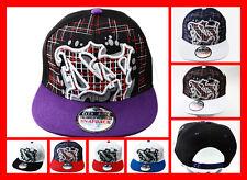 FREE UK P/P - C G New York Embroided NY Flat Peak SNAPBACK Cap Snap Back Hat