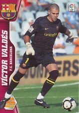 N°056 VICTOR VALDES # FC.BARCELONA CARD PANINI MEGA CRACKS LIGA 2011