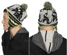 Disney Tim Burton Frankenweenie Sparky Peruvian Beanie Laplander Hat Ski Cap