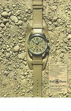 PUBLICITE   2006  BELL & ROSS DESERT TYPE montre