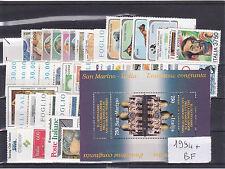 ITALIA REPUBBLICA 1994 ANNATA COMPLETA   53 VALORI+ FOGLIETTO GOMMA INTEGRA