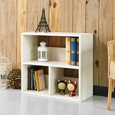 Eco Collins Cubby Bookshelf, Bookcase Organizer and Storage Shelf, White