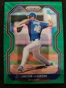 2021 Panini Prizm Green Wave Prizm Parallel Jacob deGrom New York Mets #111