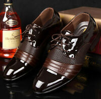 Mens Pointed Toe Wedding Business Dress Patent Leather Formal Business Shoes Sz