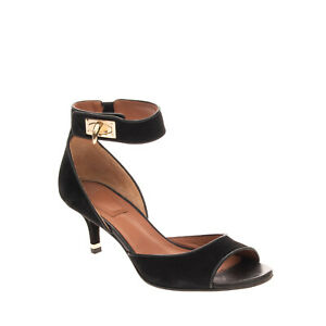 RIGHT SHOE ONLY RRP €730 GIVENCHY Leather Sandal EU38.5 UK5.5 US8.5 Shark Lock