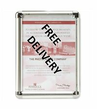 A4 Aluminium Wall Mounted Snap Frame Posters / Certficates