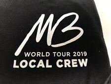 New 2019 Michael Buble Concert Tour Local Crew T-shirt size L Large Black