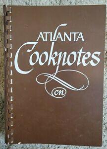 ATLANTA COOKNOTES VINTAGE SPIRAL COOKBOOK JUNIOR LEAGUE ATLANTA INC GA VTG 1982