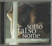 LUDOVICO EINAUDI - Sotto falso nome - CD OST 2004 NEAR MINT CONDITION