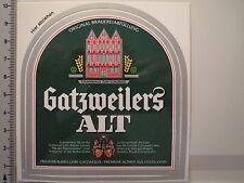 Aufkleber Sticker Gatzweilers Alt - Düsseldorfer Altbier - Bier - Decal (4076)
