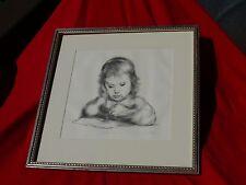 Original Framed LILA COPELAND Signed Limited Ed Print 226/250 ANDREA DRAWING