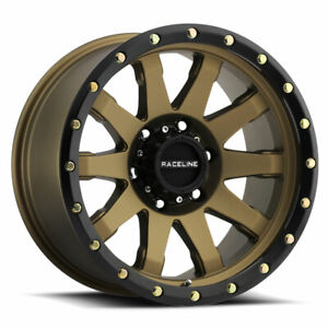 "17"" Inch Raceline 934BZ Clutch 17x9 6x5.5"" -12mm Bronze/Black Wheel Rim"
