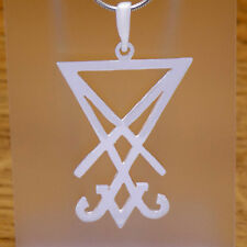 925 Sterling Silver Sigil of Lucifer Seal of Satan Gothic Pendant Satanic Symbol