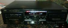 JVC TD-318 DOUBLE CASSETTE DECK AUTO REV MUSIC SCAN COMPU CALIBRATION