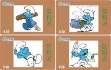 Smurfen 4 telefoonkaarten/télécartes  (SM55)