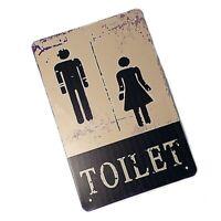 VMA-G-1198 Gentlemen to Right Vintage Western Metal Toilet Bathroom Tin Sign