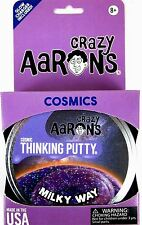 MILKY WAY Crazy Aaron's Thinking Putty COSMIC Glow in the Dark Glitter Purple 4""