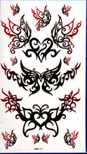 King Horse Low Back Butterflies Temporary Tattoos HM117 New Arrival!!