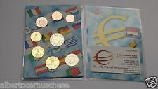 MONACO 8 monete 3,88 EURO Alberto II fdc 2012 2013 2014 mix years annate miste