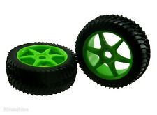 81035 Green Wheels Complete 2p 1/8 Scale Spare Part For RC Off Road Buggy