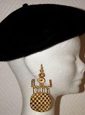 boucles d'oreilles artisanale CENDRE MENEZ laiton doré à l'or fin