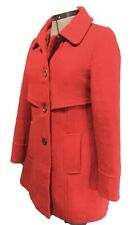 TULLE Anthropologie Red Woven Knit Jacket Coat Dress Peacoat S Retro Top Sweater