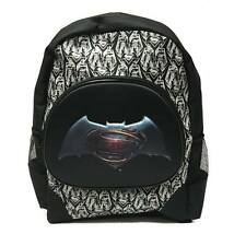 "DC COMIC Batman vs Superman 3D Large Back to School Canvas Backpack Book Bag 16"""