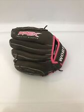 New listing Worth FPEX Fastpitch Softball Glove Size 10'' Brown Pink Right Hand Thrower