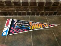 VINTAGE NASCAR #7 GEOFF BODINE EXIDE BATTERIES FORD PENNANT WINCRAFT NEW FS