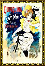 Quinquina du Chat Noir Drink Alcohol Drinks Pub Bar Chic Deco   Poster Print
