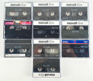 8mm Video Cassette Tapes TDK, Maxell & Sony 120min Lot Of 10