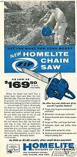 1959 Print Ad of Homelite Zip Chain Saw