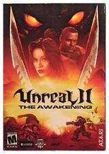Unreal II 2 The Awakening Pc Brand New Sealed Retail Box Free US Ship Nice XP